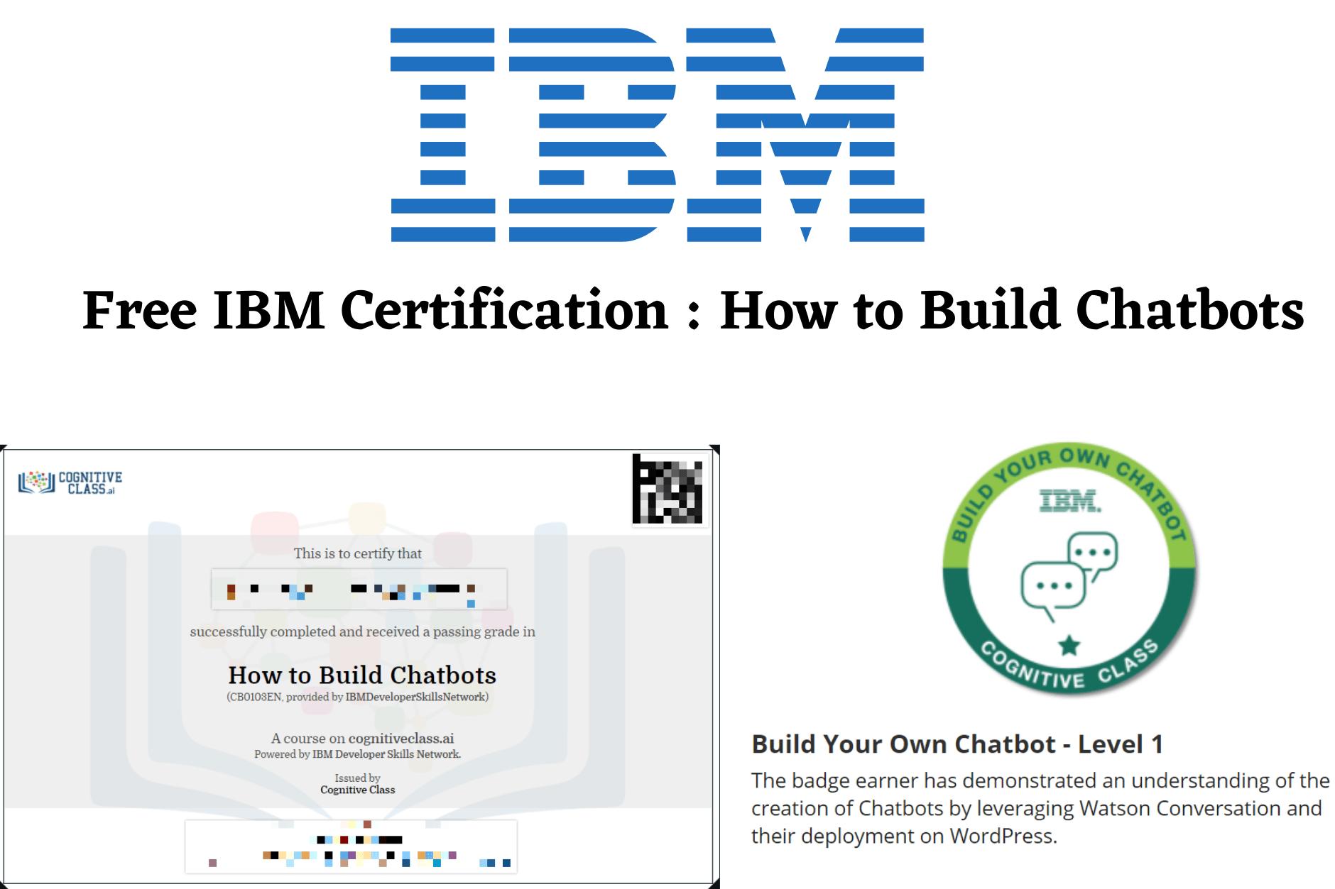 ibm certification chatbots build