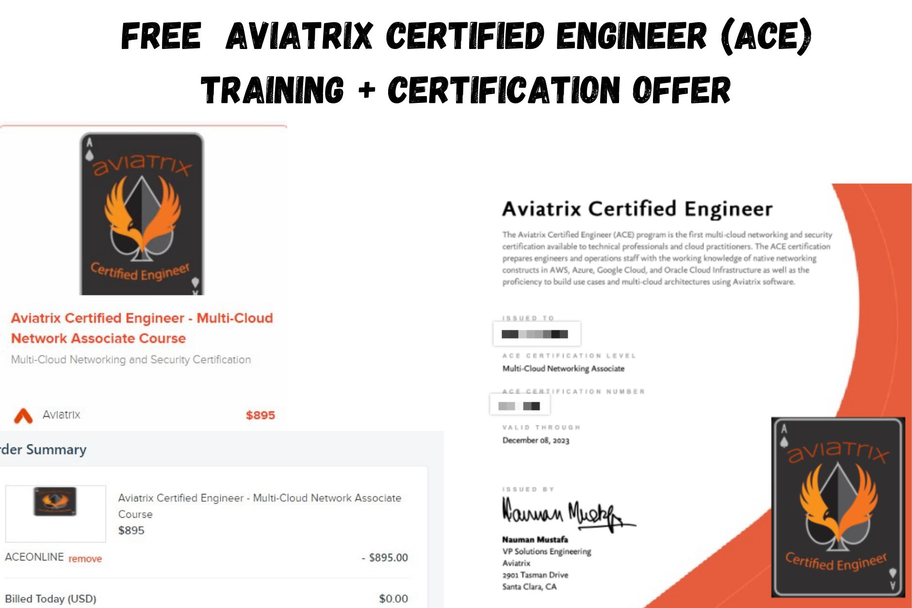 certification offer training aviatrix engineer ace certified till